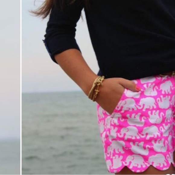 Lilly Pulitzer Pants - NWT Lilly Pulitzer Buttercup Pink Scalloped Shorts